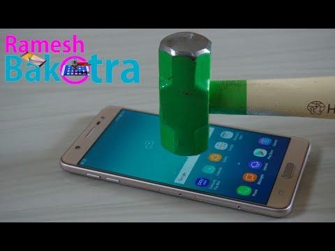 Samsung Galaxy J7 Max Screen Scratch Proof Glass Test