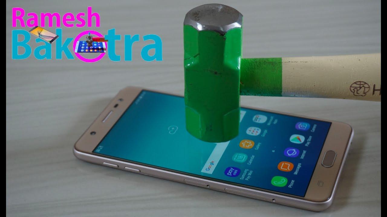 innovative design 63272 e972d Samsung Galaxy J7 Max Screen Scratch Proof Glass Test