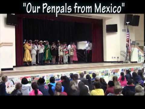 Poinsettia Elementary Gets to meet thier Penpals From Mexico - YouTube
