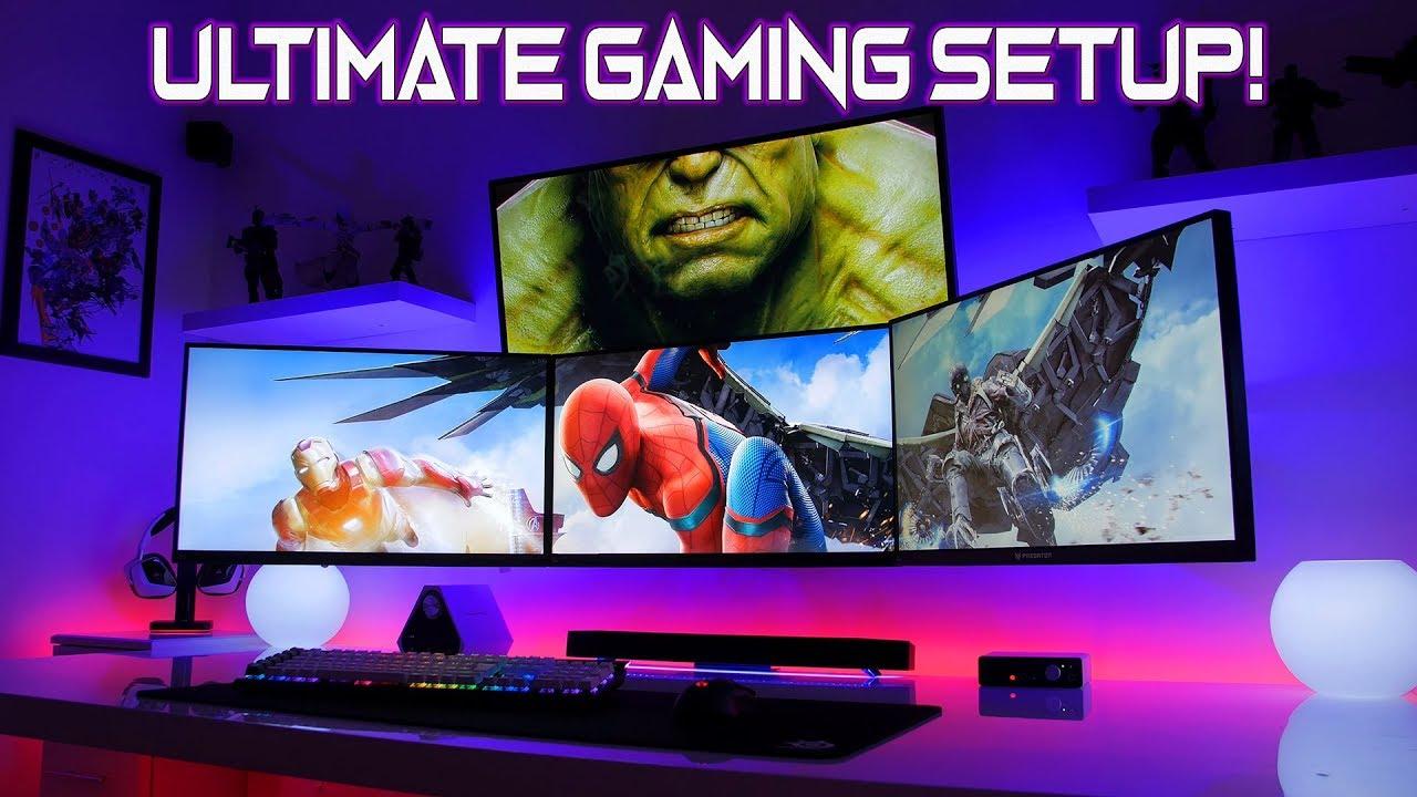 My New Ultimate Gaming Setup Tour 2018 V2 Youtube
