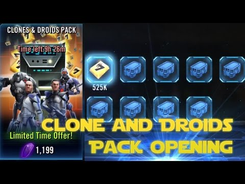 CLONES AND DROIDS PACK OPENING! - Star Wars: Galaxy of Heroes