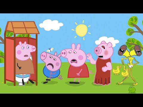 Peppa, George, Piggy, Baby Siren Head vs WC - Peppa and Roblox Piggy Funny Animation |