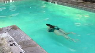 Evening Swim & Handstand Splits in Pool - Trauma To Fitness - Pason