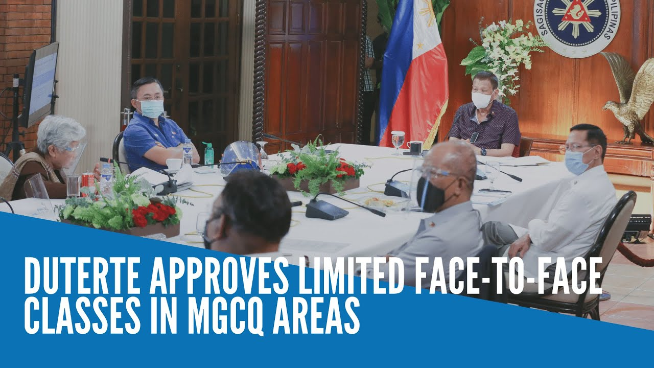 BREAKING: Duterte OKs limited face-to-face classes in low-risk ...