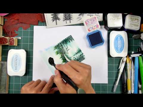 Stampscapes 101: Video 165. Nature Set #1 Stamp-along #6 simple scene