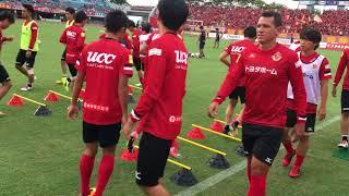 名古屋グランパスvs東京V セブンイレブンピッチサイドシート観戦.