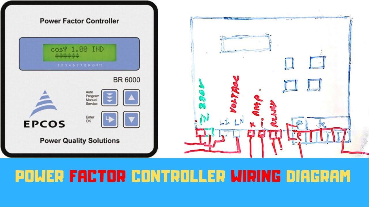 Power Factor Controller Control Wiring Diagram - YouTube