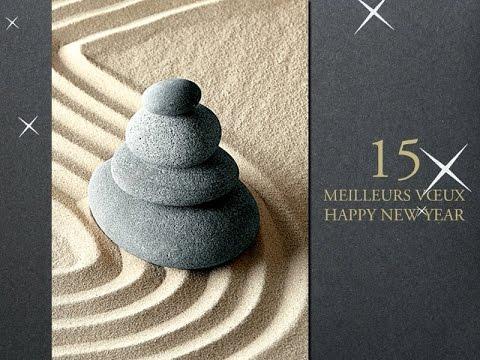 carte de voeux entreprise zen pour 2016 2015 youtube. Black Bedroom Furniture Sets. Home Design Ideas