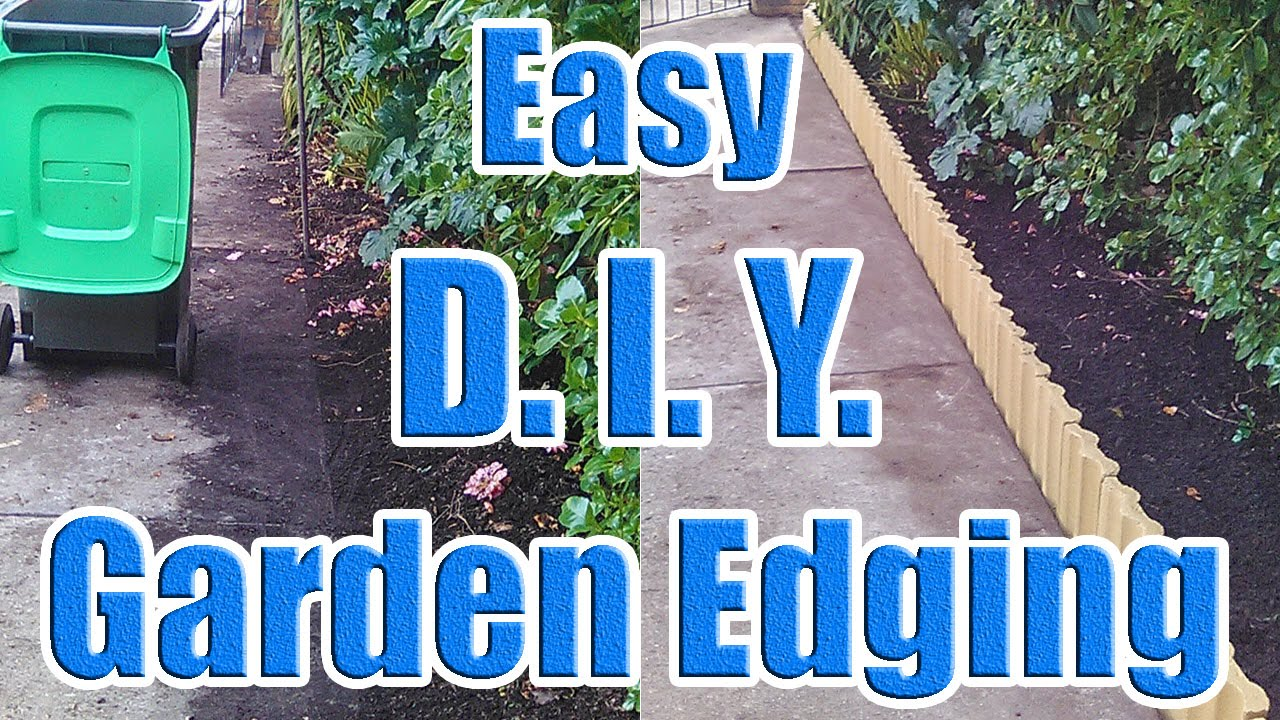how to do garden edging with leftover house tiles (creative garden