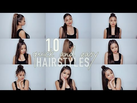 10 Simple Quick and Easy Hairstyles