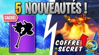 FORTNITE - COFFRE SECRET & ITEMS CACHES ! Update Saison 8