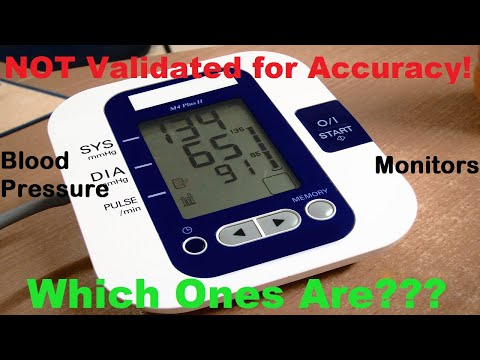 Which Blood Pressure Monitors ARE Validated for Accuracy? 85% out there are NOT!