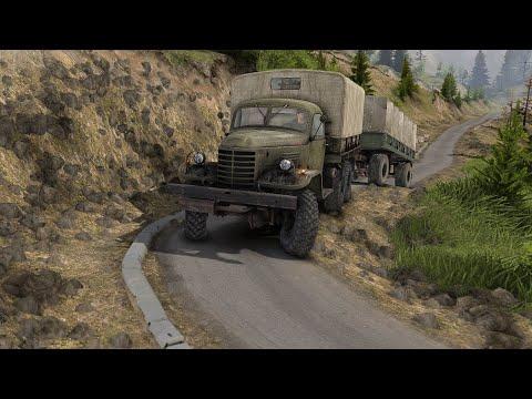 Грузовик CA30 с колесной формулой 6X6 спускается с перевала. China Adventure DLC 1.7.0. Spintires |