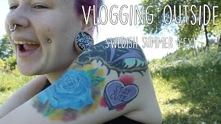 swedish summer vlogging outside makes me happy