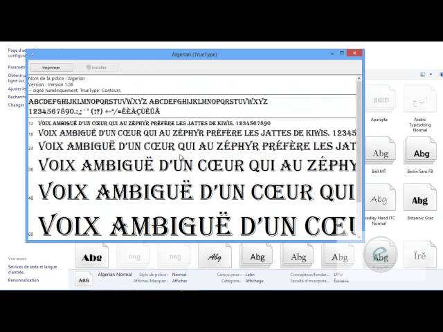 Windows 8 : Leçon 10 : (2) Panneau de configuration لوحة التحكم