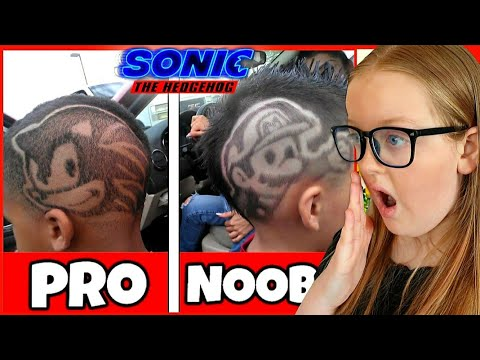 New Sonic The Hedgehog Pro Haircuts Vs Noob Hairstyles Summer Hair Ideas Youtube