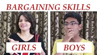 BARGAINING: GIRLS VS BOYS [ FUNNY VIDEO ]