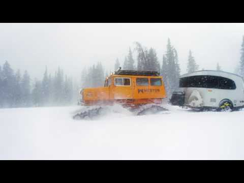 An Unlikely Pairing: Airstream Basecamp® & Tucker Sno-cat®