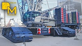 GIANT CRAWLER CRANE TEREX SUPERLIFT 3800 CONEXPO WALKAROUND