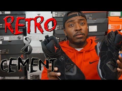 Jordan Retro 8 'Cement' Early Look / On Foot