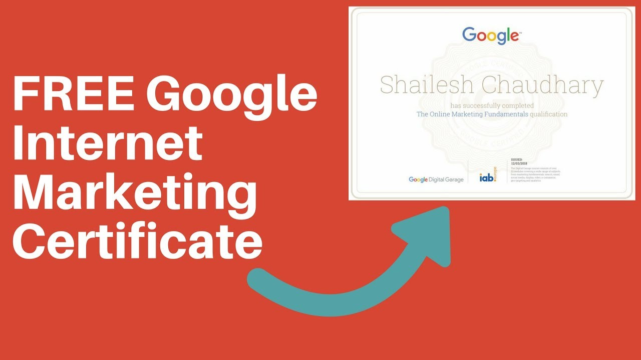 Free Google Online Internet Marketing Certificate Hasil Kare Youtube