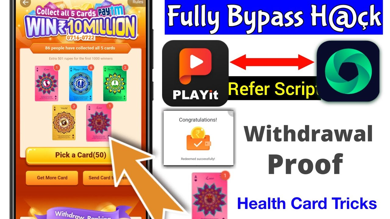 Plyait Unlimited Refer Tricks | Playit Unlimited Refer Bypass | Playit App Se Paise Kaise Kamaye