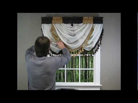 Waterfall Valance - How to Hang