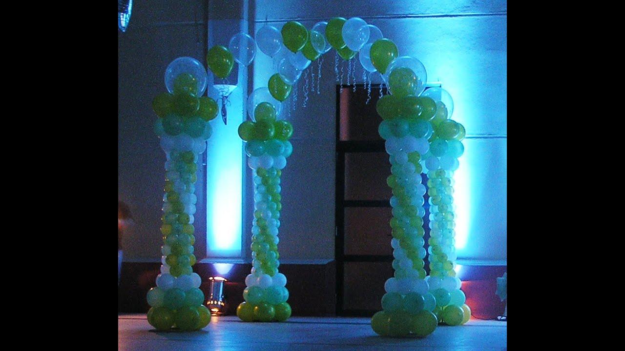 Arcos de globos para fiestas youtube - Globos para eventos ...