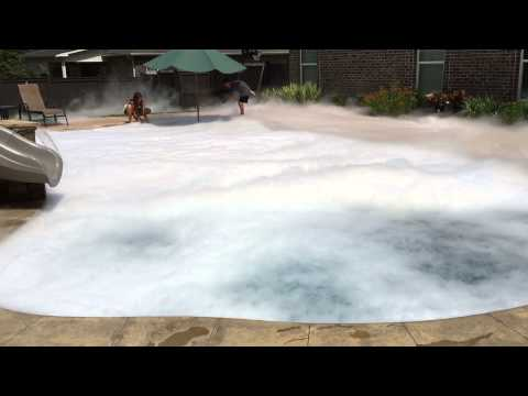 100lbs of Dry Ice in the pool
