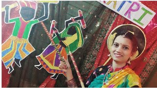 Navratri Dandiya Garba Decoration Idea/ Easy Drawing Coloring Video For Festival/Diwali Decoration