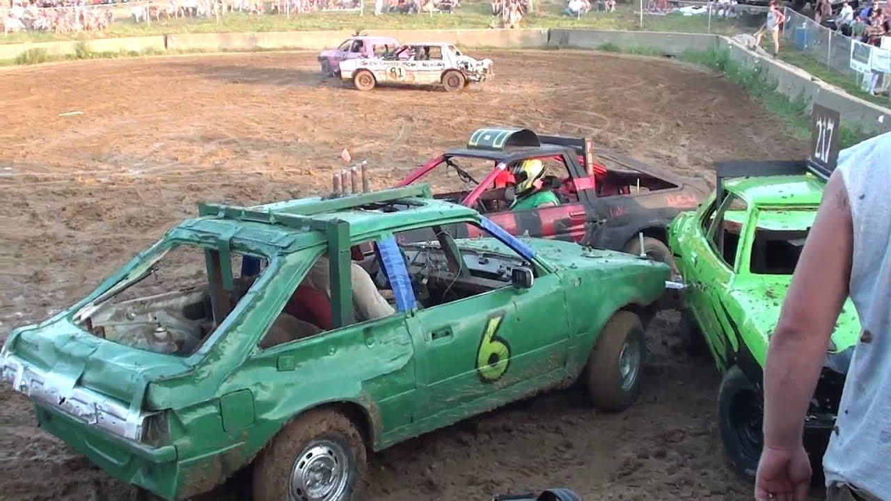Grant County Mini car demolition derby 7-24-10 - YouTube