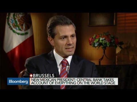 President of Mexico Enrique Pena Nieto on the Economy