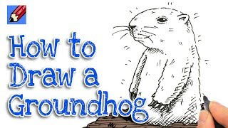 How to Draw a Groundhog Real easy