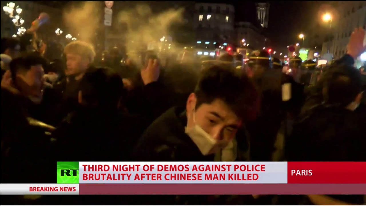 Tear gas & pepper spray: Protests against Paris police turn violent 3rd day in row