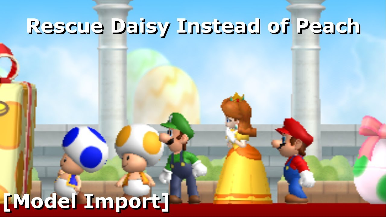 Rescue Daisy Instead of Peach in NSMBW [Model Import] (+Download) (11 8K  Sub Special)