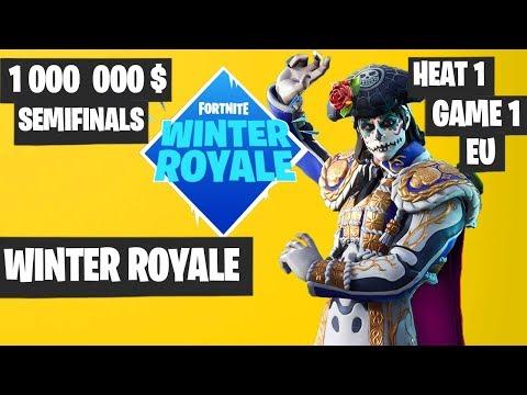 Fortnite Winter Royale Semifinal Day 1 Game 1 EU Highlights [Fortnite Tournament 2018]