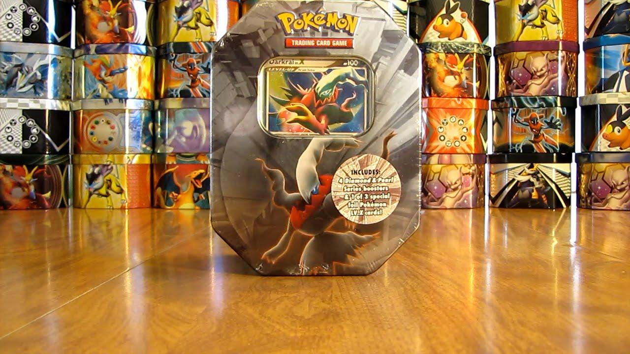 Kleurplaten Pokemon Snivy.Pokemon Darkrai Lv X Tin Opening Youtube