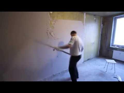 Как выравнивать и штукатурить стены своими руками.