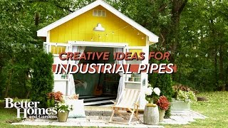 4 Clever Ways to Craft with Industrial Pipes