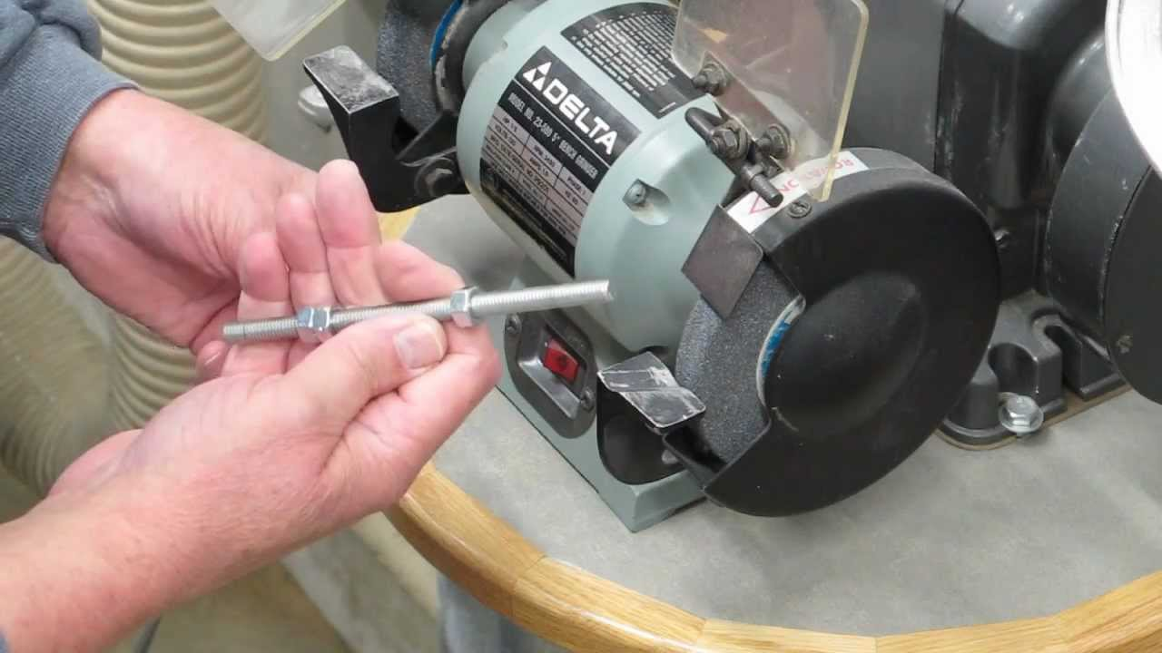 How To Cut A Threaded Rod Or Bolt Youtube