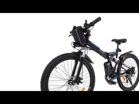 Sheepfun Folding Electric Mountain Bike, Lithium-Ion Battery (36V 250W), Premium F...