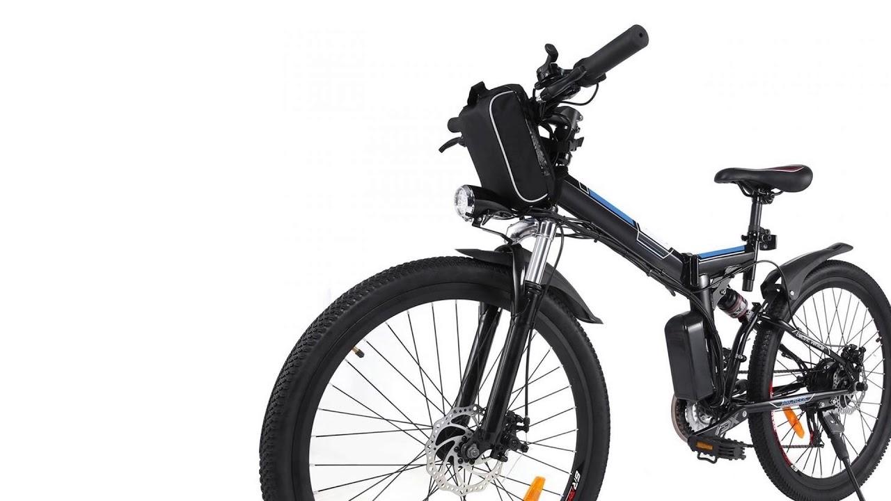 Sheepfun Folding Electric Mountain Bike, Lithium-Ion Battery (36V 250W), Premium F...