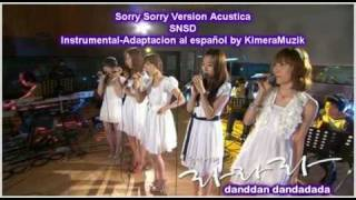 Download Sorry Sorry Version Acustica (SNSD) Adaptacion al Español!! /Karaoke/ MP3 song and Music Video