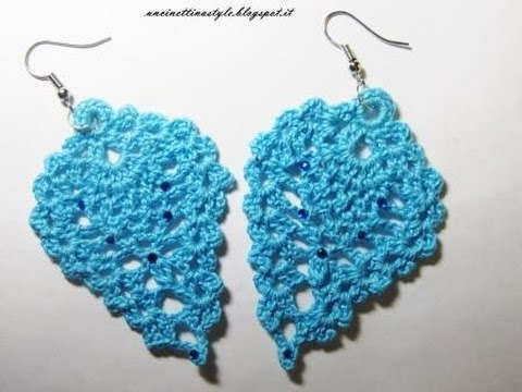 Tutorial Orecchini Ananas O Foglia Ad Uncinetto Crochet Earrings