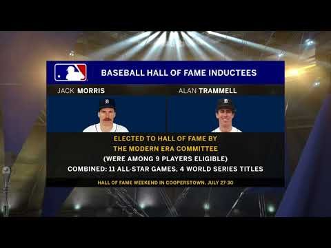 Tigers greats Jack Morris, Alan Trammell headed to Cooperstown