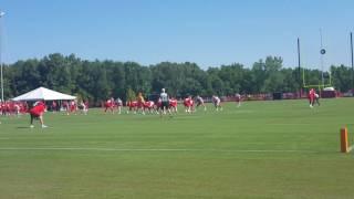 Patrick Mahomes 2 minute drill at Chiefs training camp