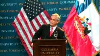 Repeat youtube video World Leaders Forum: Sebastián Piñera, President of the Republic of Chile