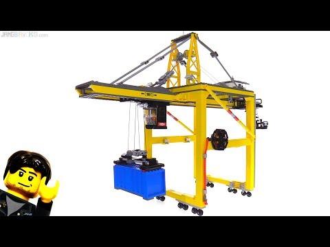 Custom LEGO intermodal container gantry crane (STS) MOC complete!