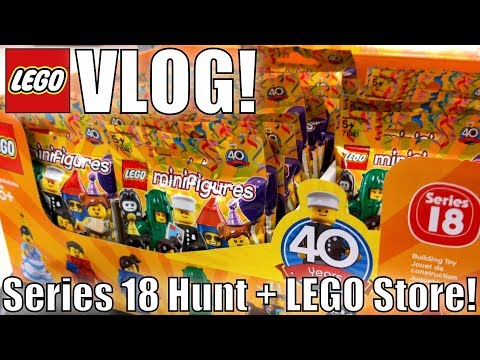 Series 18 Minifigures Found, Closing Toys R Us Store, & LEGO Store!| MandRproductions LEGO Vlog!
