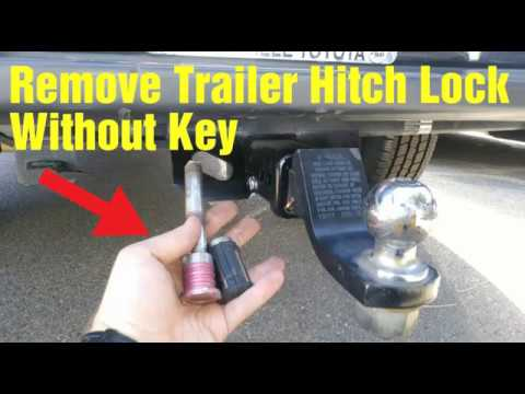 How to remove A Trailer Hitch Lock WITHOUT  the Key🔑